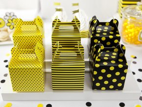 Papierové boxy Včielka 6ks v balení