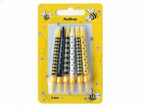 Sviečky Včielka 6ks v balení