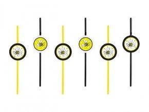 Slamky Včielka 6ks v balení
