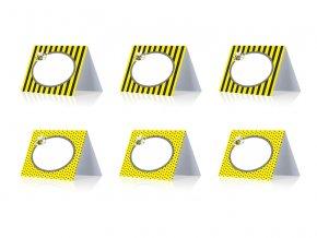 Kartičky zasadací poriadok Včielka, 6ks v balení