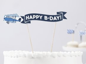 Dekorácia-zápich na tortu Little Plane Lietadlá 1ks