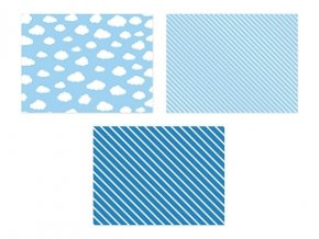 Papierové podložky Lietadlá 6ks v balení