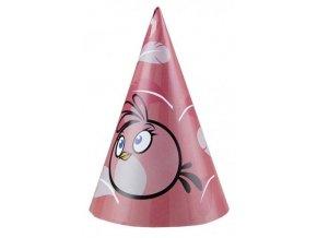 Klobúčiky Angry Birds ružové 6ks v balení