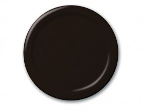 Tanier čierny 21,9cm, 8ks v balení
