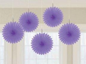 Visiace rozetky fialové 15,2cm 5ks