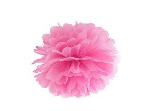 Pompon ružový 25cm