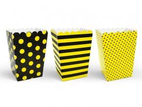 Krabičky na Popcorn Včielka 6ks v balení