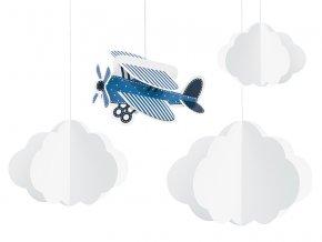 Visiaca dekorácia Little Plane 4ks v balení