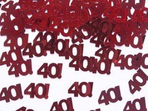 Konfety s číslom 40