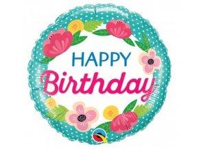 balon foliowy 18 ql cir happy birthday petite
