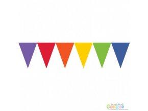 Vlajková girlanda Rainbow 4,5m