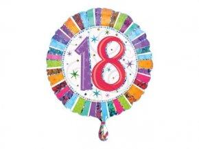 """Fóliový balón """"18"""" Happy Birthday 47cm"""