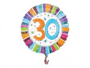 """Fóliový balón """"30"""" Happy Birthday 47cm"""