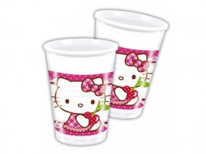 eng pl Plastic cups Hello Kitty Hearts 200 ml 8 pcs 12042 2