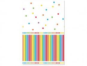 Obrus Rainbow Birthday 1,37x2,13m 1ks v balení