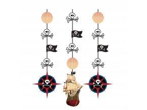 Visiaca dekorácia Pirát 3ks v balení