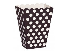Krabička čierna s bodkami 8ks v balení