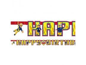 Banner Happy Birthday Požiarnik Sam1,8m