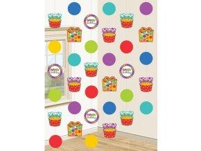 Visiaca dekorácia Dots&Stripes 6ks v balení
