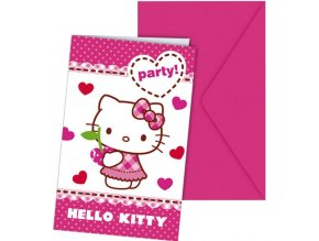 Pozvánky Hello Kitty 6ks v balení