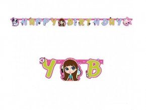 Banner Happy Birthday Littlest Pet Shop 1,8m