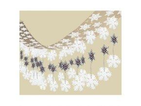 Závesná dekorácia na strop - snehové vločky