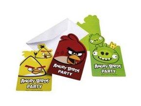Pozvánky Angry Birds 6ks v balení