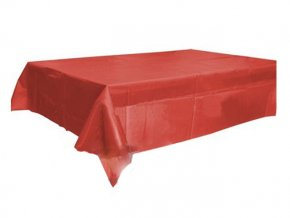 Obrus červený plastový 120x140cm