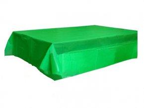 Obrus zelený plastový 120x140cm