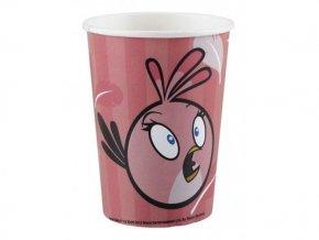 Pohár Angry Birds pink  8ks v balení