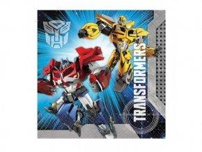 Servítky Transformers 33cm, 20ks v balení