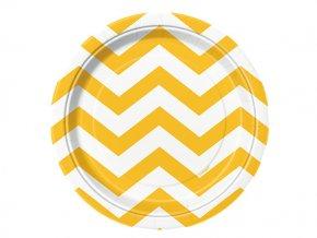 Tanier Chevron žltý 17,1cm 8ks v balení