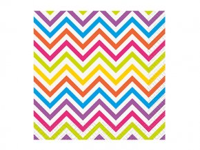 Servitky Rainbow Chevron party