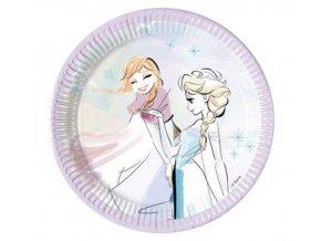 talerzyki papierowe frozen sparkle 20 cm 8 szt