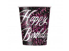 kubeczki papierowe urodzinowe glitz happy birthd