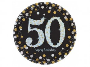 "Tanier Happy Birtdhay Gold ""50""  4"