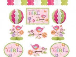 Dekoračná zostava 1.narodeniny baby girl