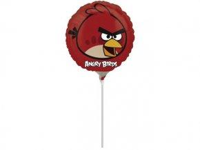 Fóliový balón Angry Birds červený na paličke