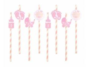 Slamky Baby Girl  pink  8ks v balení