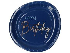 Tanier Happy Birthday modrý 8ks