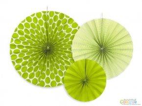 Rozetky visiace zelené DOTS 3ks