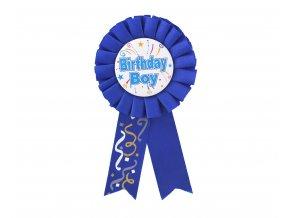 niebieski kotylion urodzinowy