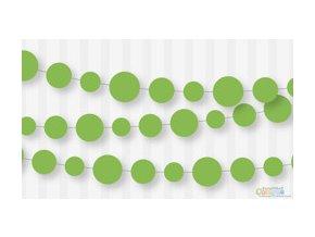 Girlanda papierová zelená 2,7m