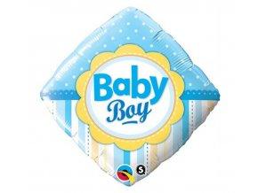 Fóliový balón Baby boy modrý