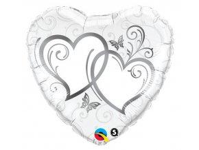 Fóliový balón Srdce svadobné