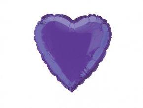 Fóliový balón Srdce fialové