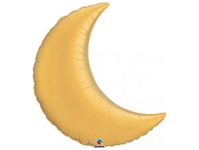 Fóliový balón Mesiačik zlatý