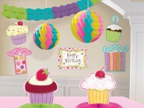 Dekorácia Muffin party 10ks v balení