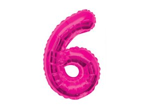 eng pm Number 6 Pink Foil Balloon 86 cm 1 pc 21046 1