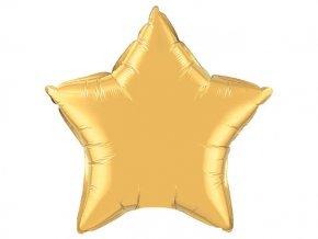 Fóliová hviezda zlatá 47cm
